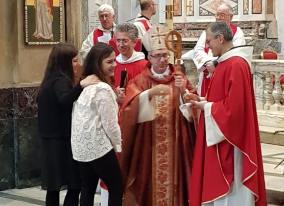Imposizione delle mani del Vescovo a San Francesco a Ripa