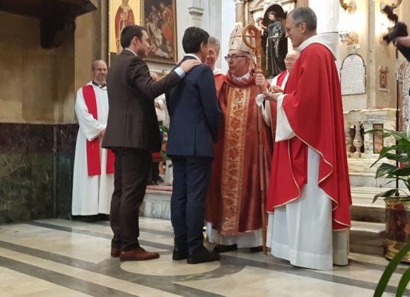Cresimando e padrino a San Francesco a Ripa